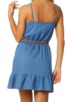vestido feminino curto alcas reducao dz12058 costas proximo