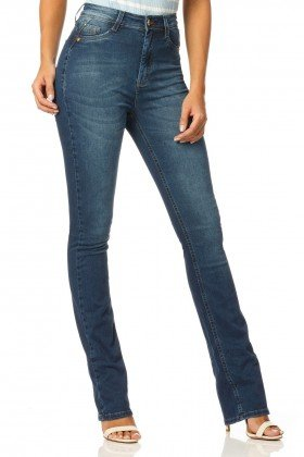 calca boot cut hot pants stone dz2330 denim zero frente proximo