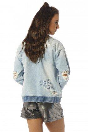 moletom feminino com ribanas estonado dz9071 costas proximo denim zero