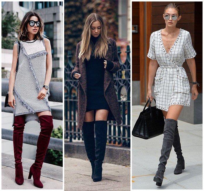 35 como usar vestido no inverno bota