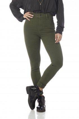 calca skinny hot pants colors dz2528 olive frente proximo denim zero