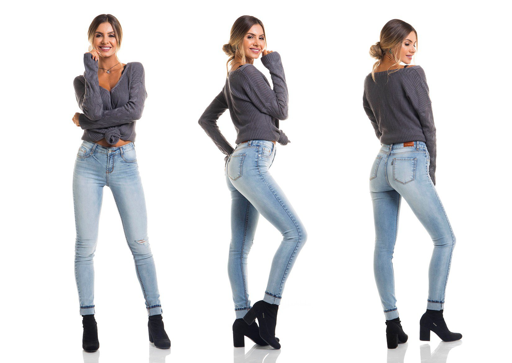 dz2676 calca skinny media tripla