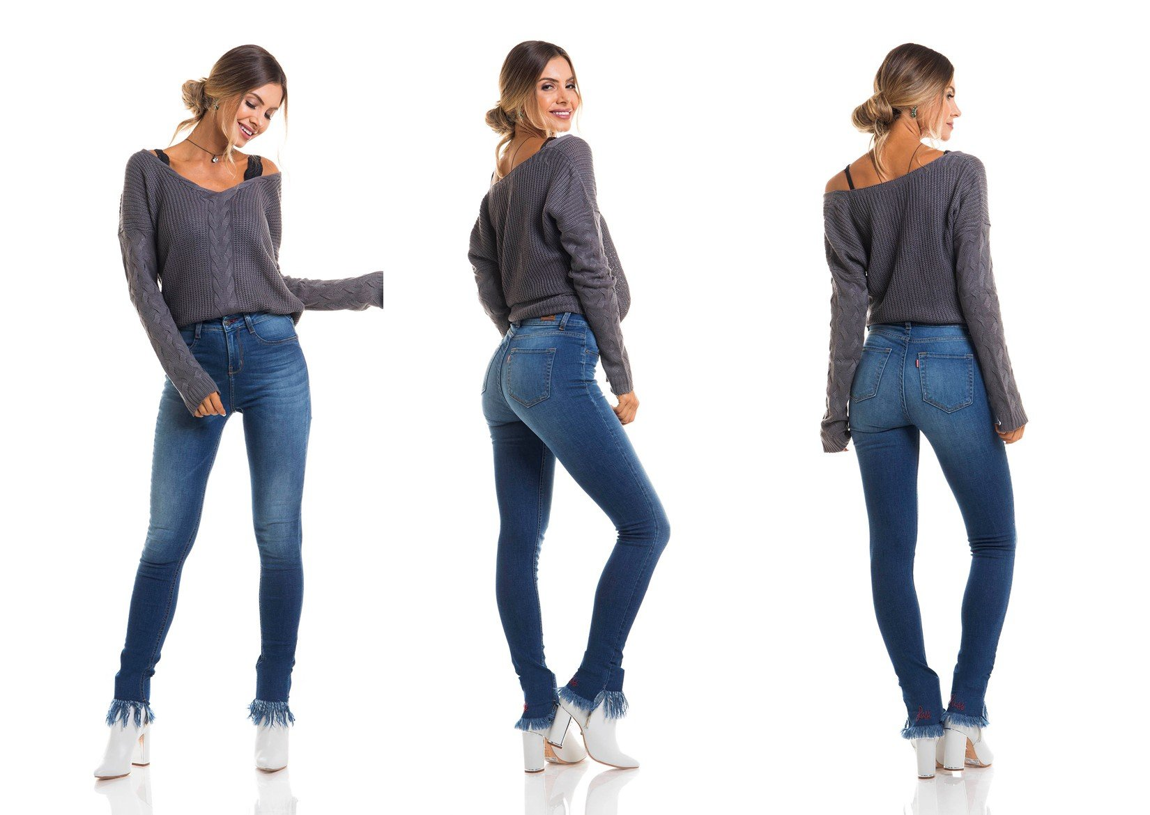 dz2659 calca skinny media tripla