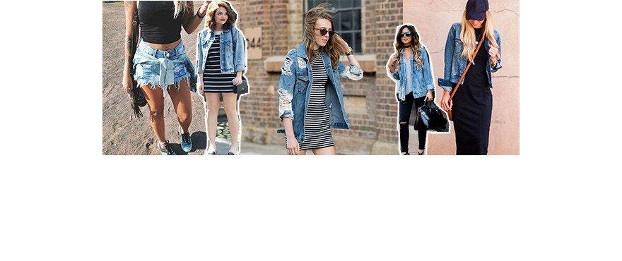 05 composições com jaqueta jeans