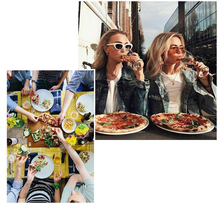 01 dia da pizza com as amigas e denim zero