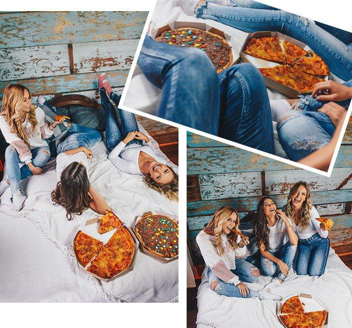 03 dia da pizza com as amigas e denim zero