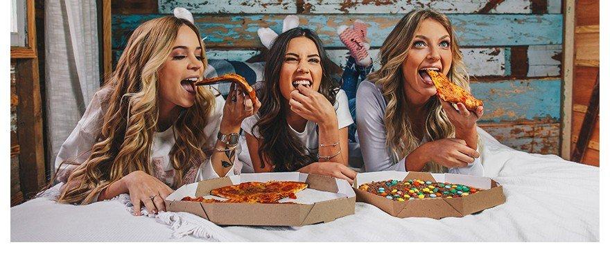 Dia da Pizza com as amigas e Denim Zero