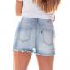 dz6253 shorts pin up claro denim zero costas cortado