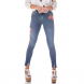 dz2704 calca skinny gigarrete media bordado denim zero frente cortada