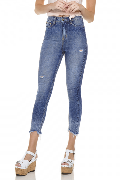 dz2759 calca skinny cropped hot pants frente proximo denim zero