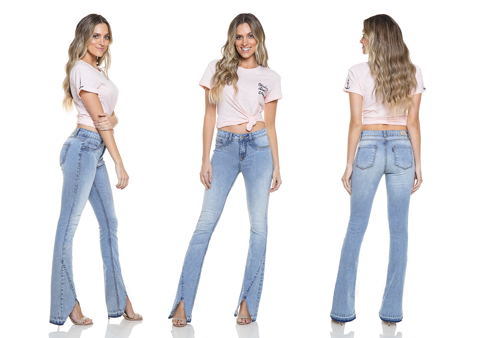 dz2760 calca boot cut media tripla denim zero