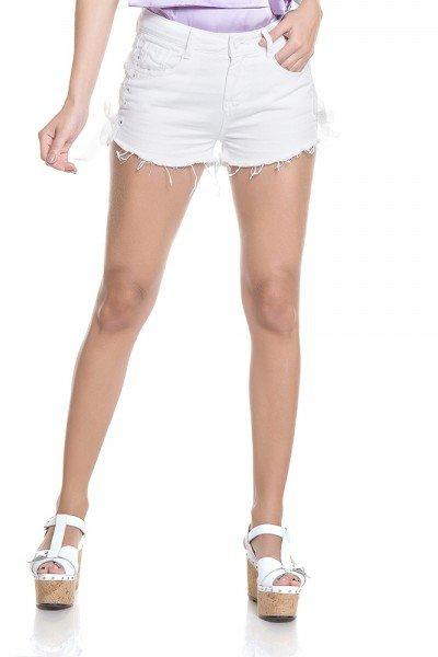dz6266 shorts young branco zoom frente