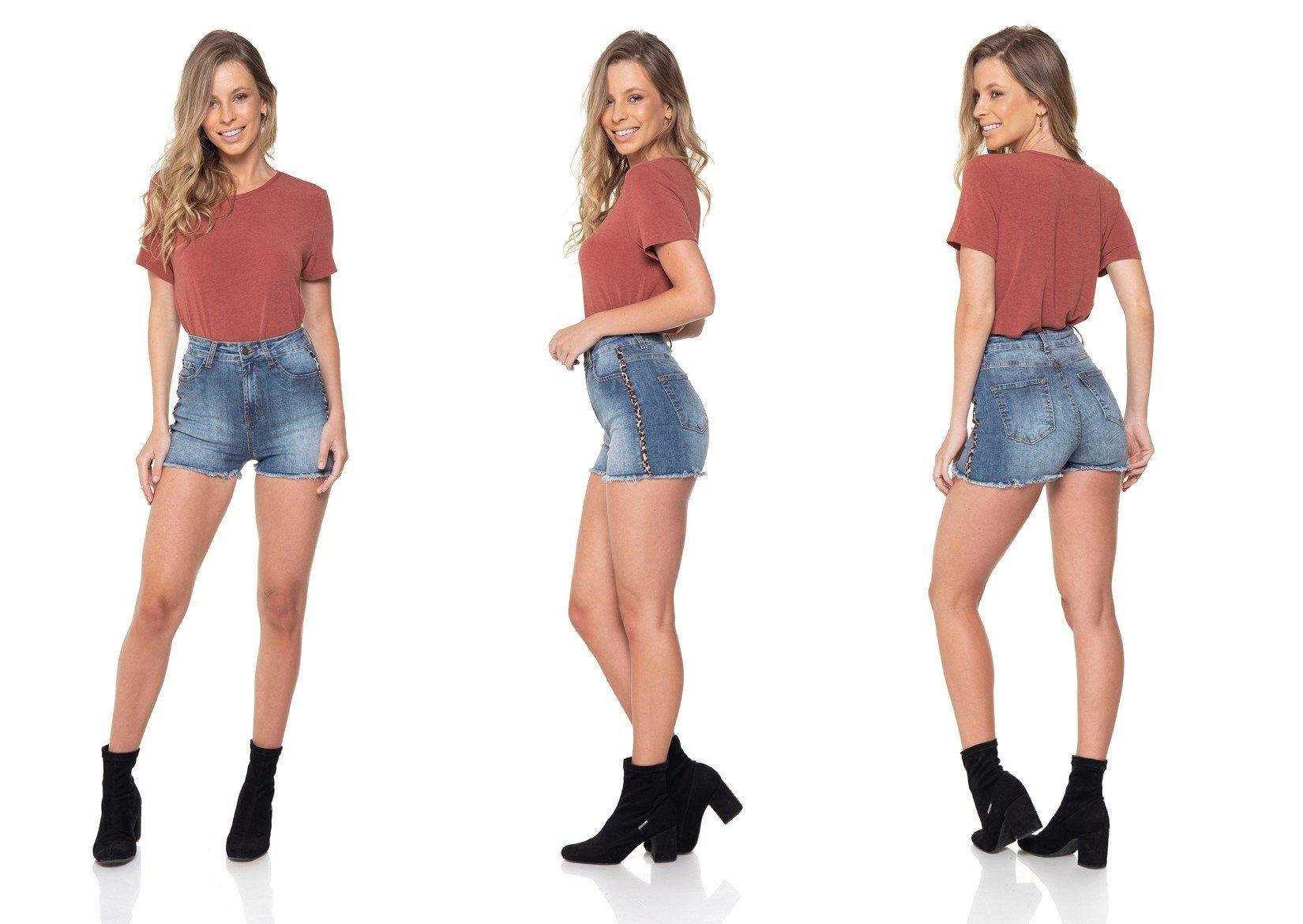 dz6285 shorts jeans pin up listra lateral denim zero tripla