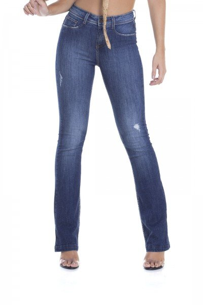 dz2914 calca boot cut media puidos denim zero frente crop