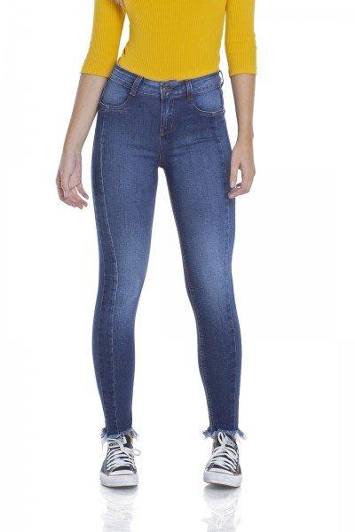 dz2945 calca jeans skinny media cigarrete frente crop denim zero
