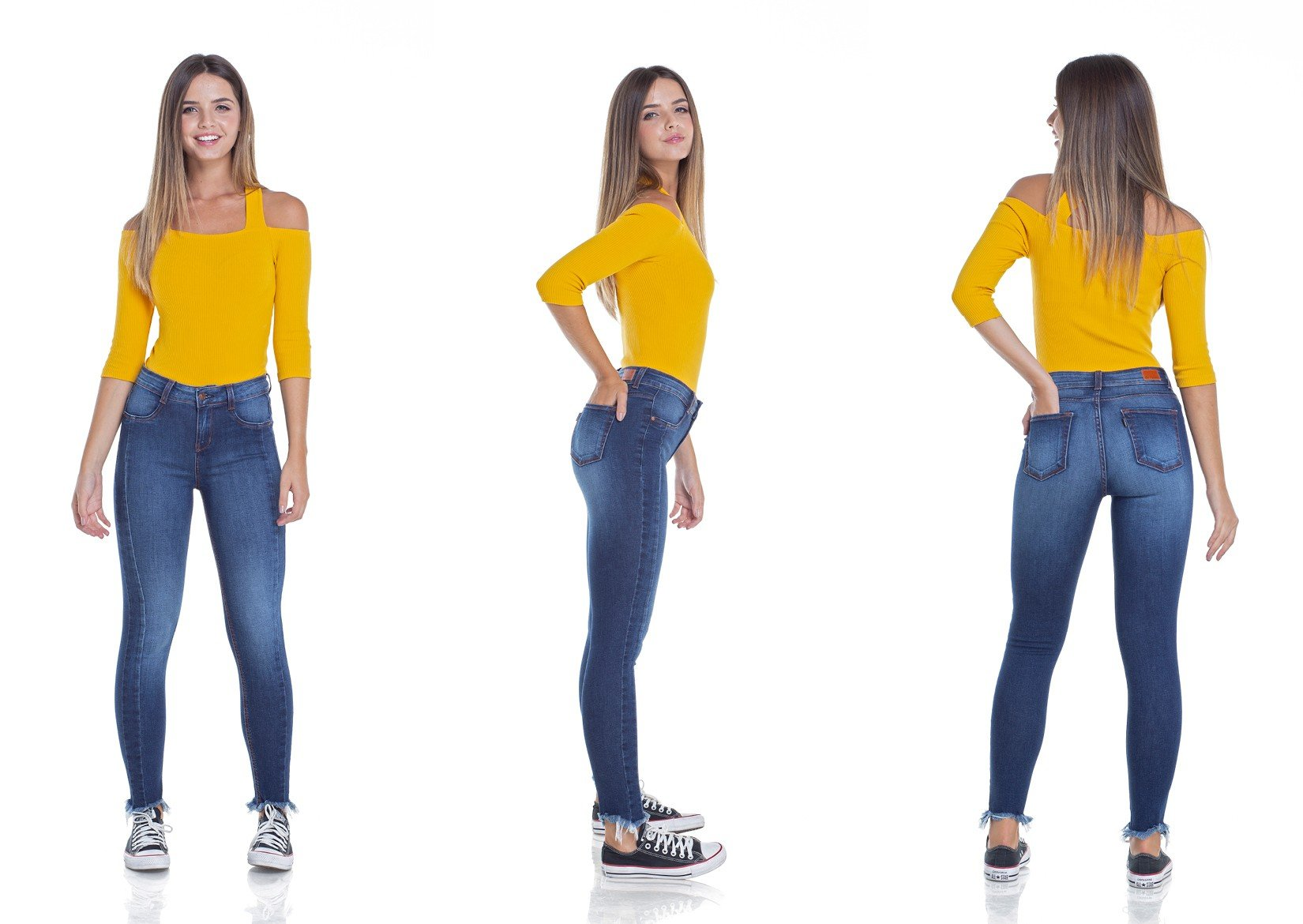 dz2945 calca jeans skinny media cigarrete tripla denim zero