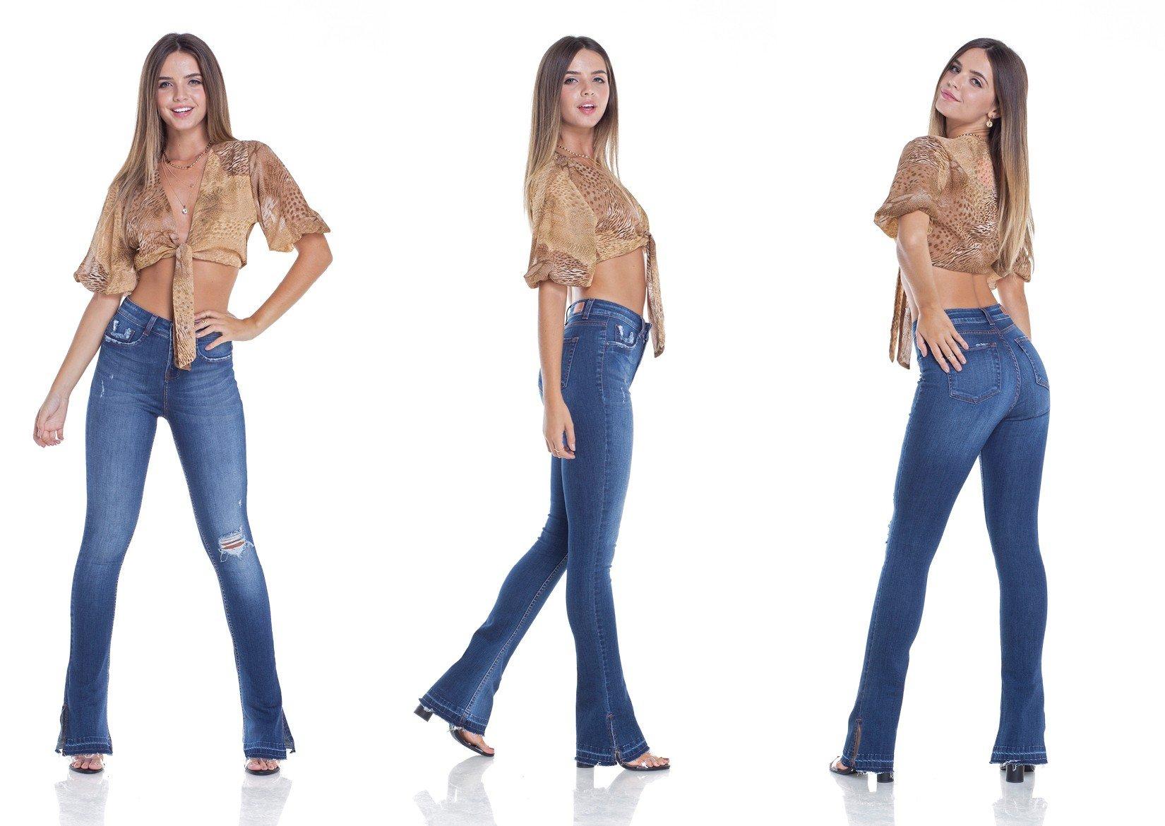 dz2948 calca jeans new boot cut com rasgos e bigodes tripla denim zero2