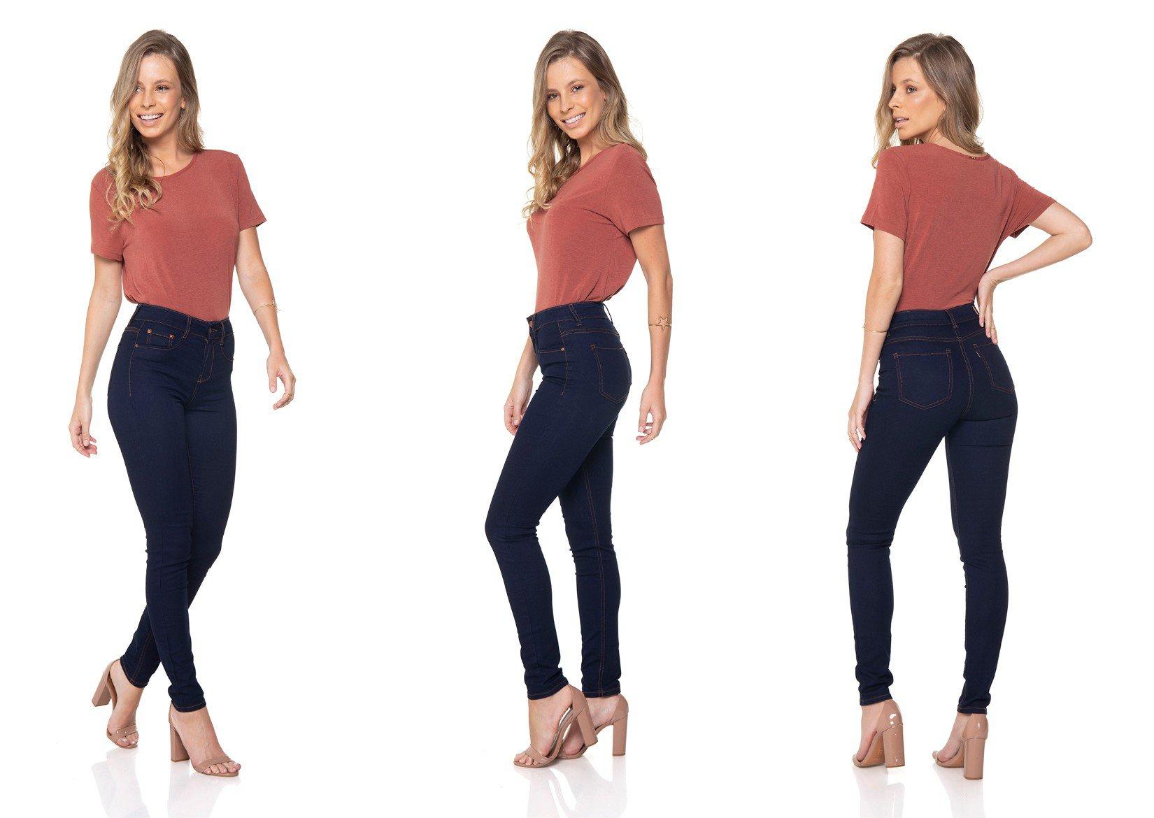 dz2558 12 calca jeans skinny media escura denim zero tripla