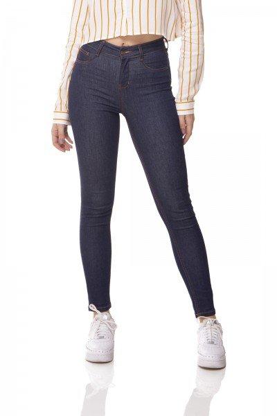 dz3072 calca jeans skinny media cigarrete escura denim zero frente prox