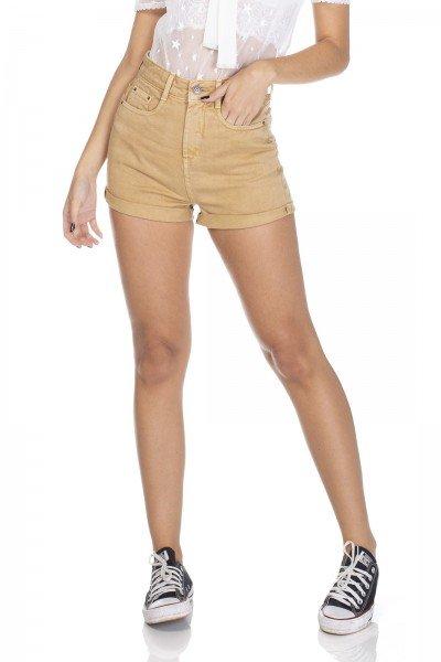 dz6310 shorts jeans setentinha camel denim zero frente 01 prox