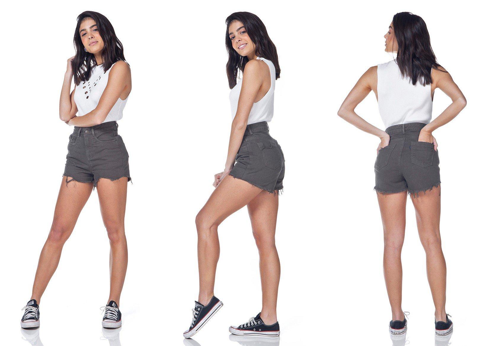 dz6324 shorts jeans setentinha denim zero musgo tripla