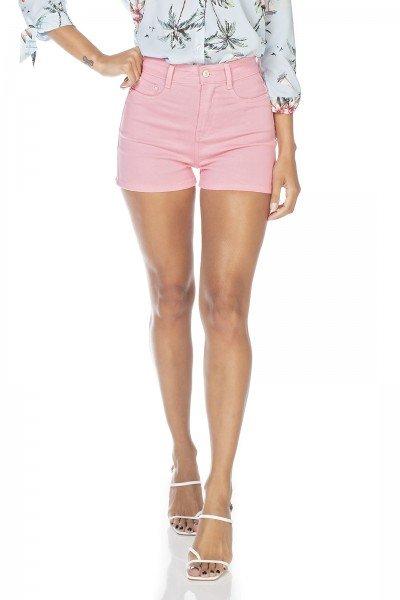 dz6342 shorts jeans feminino pin up fru fru denim zero frente prox