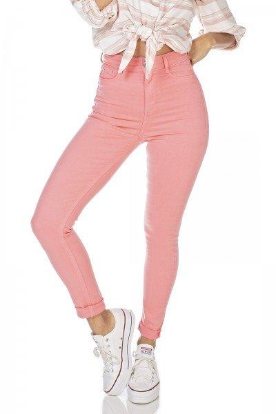 dz2528 13 calca jeans feminina skinny hot pants goiaba denim zero frente prox