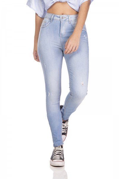 dz3253 calca jeans feminina skinny media com estampa denim zero frente prox