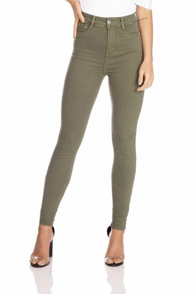 dz2528 13 calca jeans feminina skinny hot pants colorida crocodilo denim zero frente prox