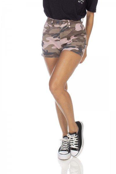 dz6354 shorts jeans feminino camuflado mist denim zero frente prox