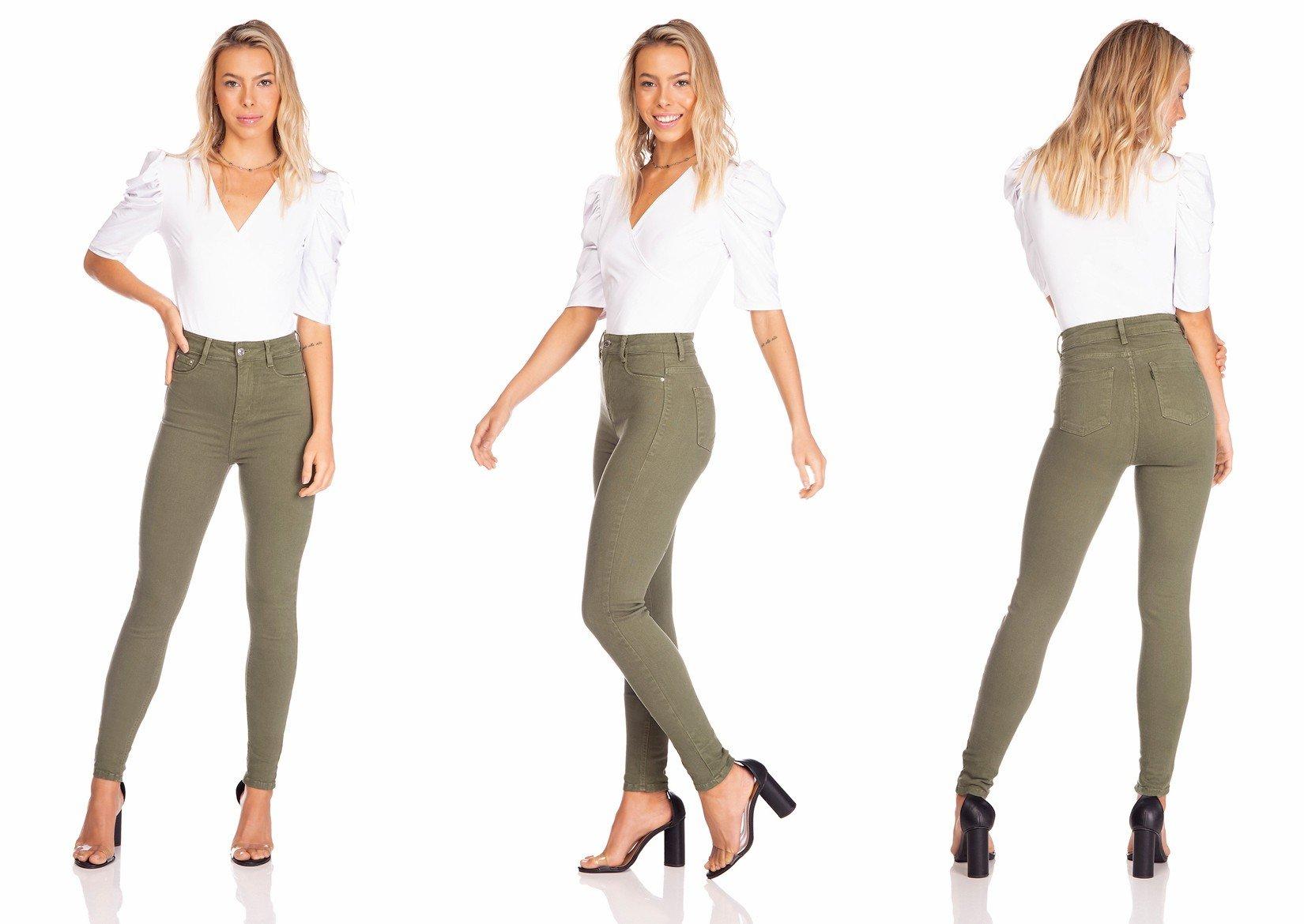 dz2528 13 calca jeans feminina skinny hot pants colorida crocodilo denim zero tripla