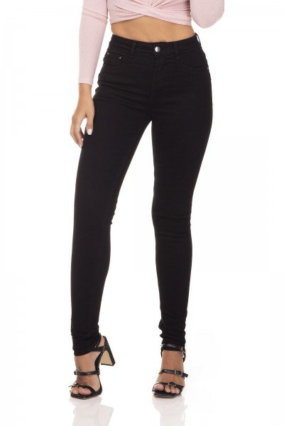 dz3304 calca jeans skinny media black and white preto denim zero frente prox