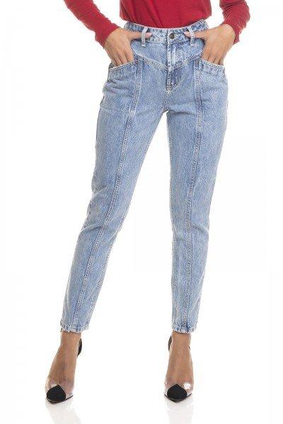 dz3389 calca jeans feminina mom com recortes denim zero frente prox