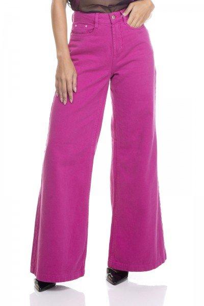 dz3383 calca jeans feminina pantalona colorida denim zero frente prox
