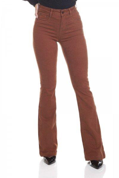 dz3453 calca jeans feminina flare media colorida raposa frente prox