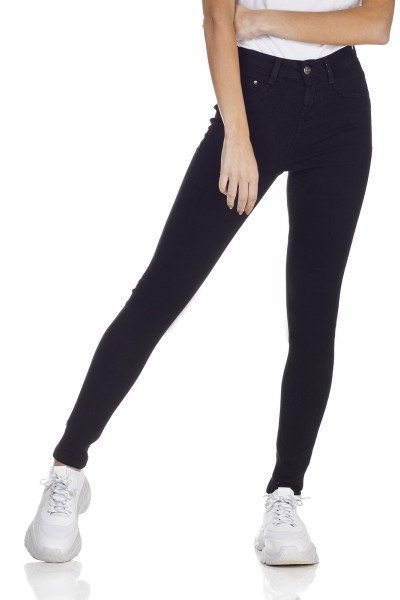 dz3126 calca jeans skinny media cigarrete preto denim zero frente prox