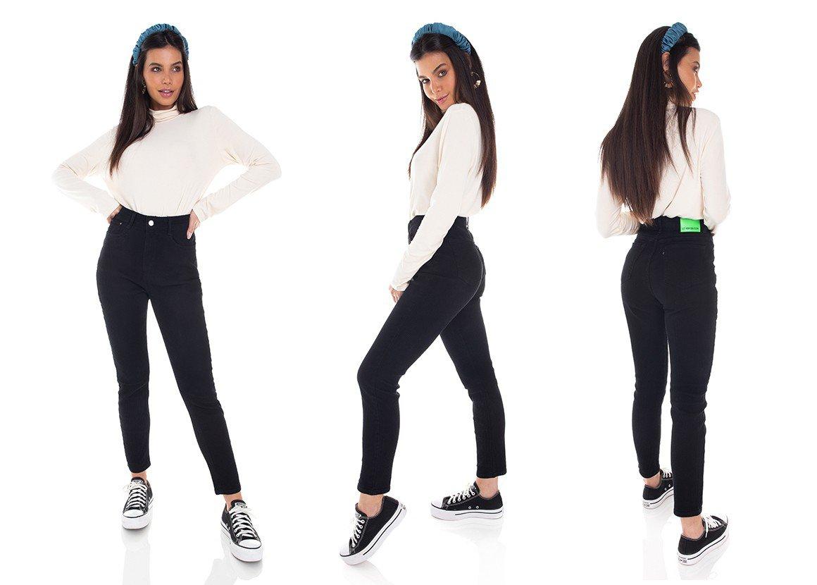 dz3384 calca jeans feminina mom cotele denim zero tripla