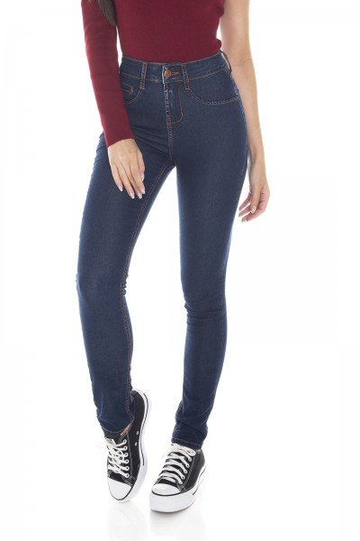 dz3408 calca jeans feminina skinny media tradicional denim zero frente prox
