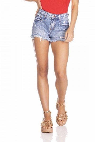 dz6376 shorts jeans feminino youg barra desfiada denim zero frente prox