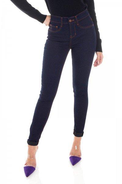 dz3451 calca jeans feminina skinny media tradicional denim zero frente prox
