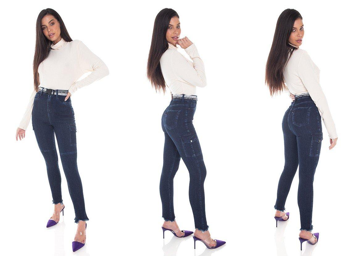 dz3410 calca jeans feminina skinny hot pants cigarrete bolsos lateraisdenim zero tripla