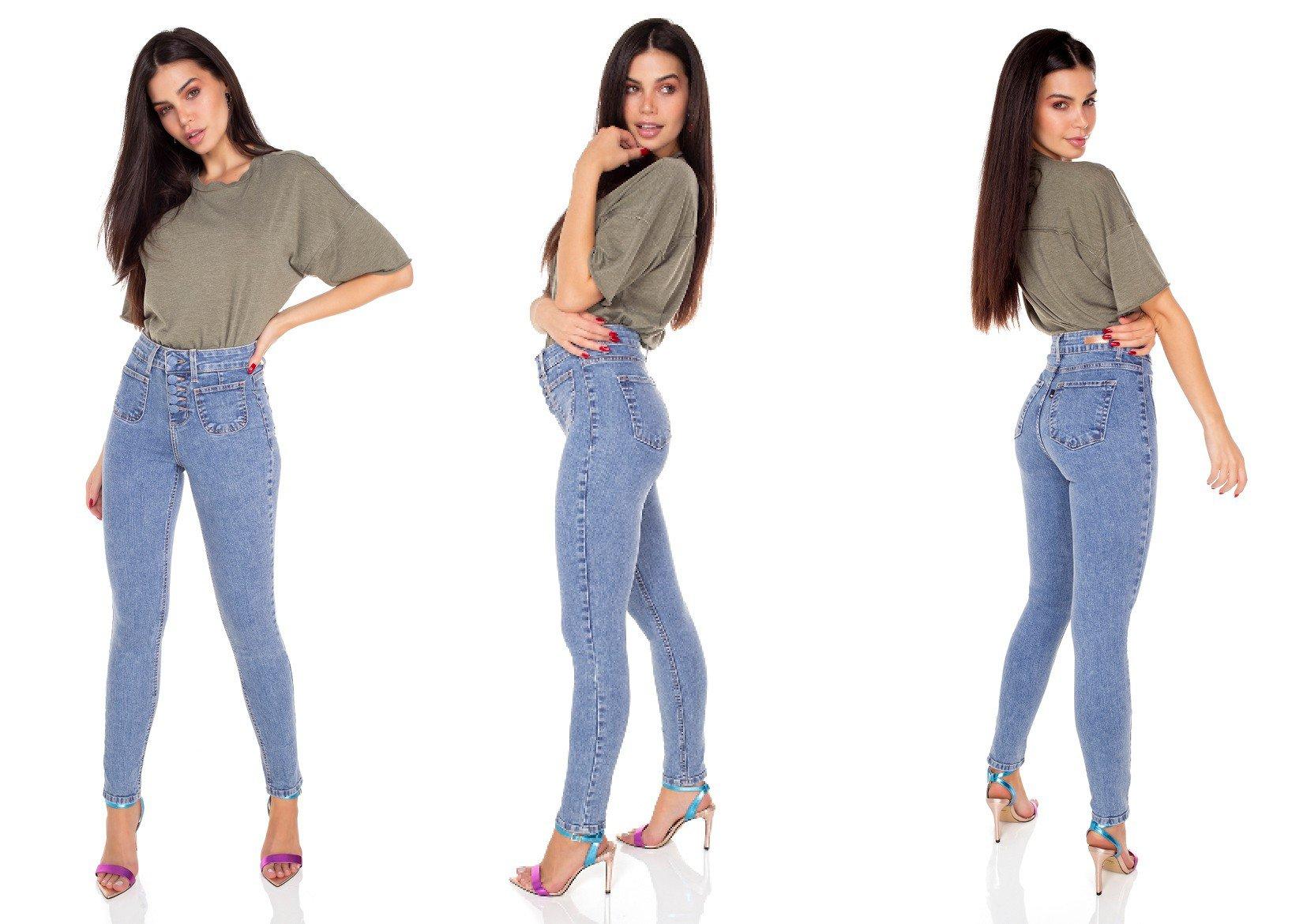 dz3439 calca jeans feminina skinny media cigarrete botoes encapados denim zero tripla