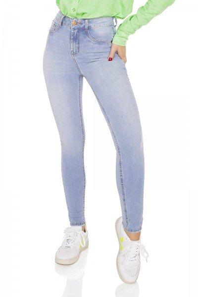 dz3547 calca jeans feminina skinny media cigarrete denim zero frente prox
