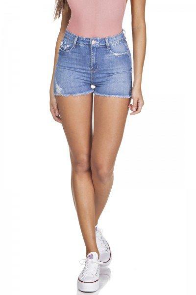 dz6337 shorts jeans pin up barra desfiada denim zero frente prox