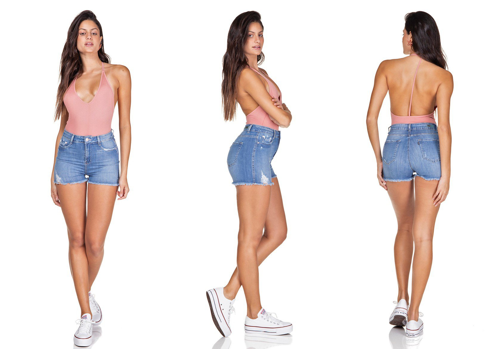 dz6337 shorts jeans pin up barra desfiada denim zero trio