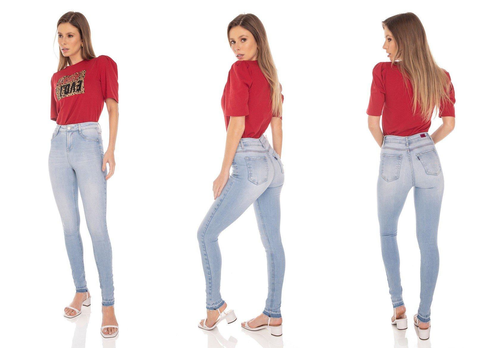 dz3469 calca jeans feminina skinny media barra dupla denim zero tripla