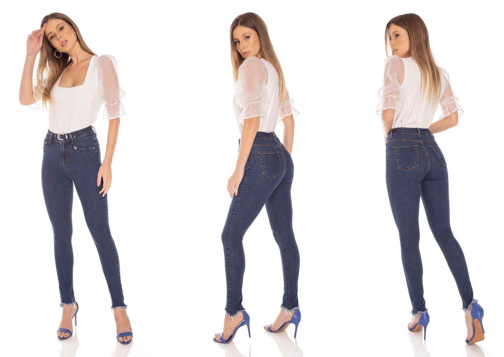 dz3394 calca jeans feminina skinny media com cinto denim zero tripla