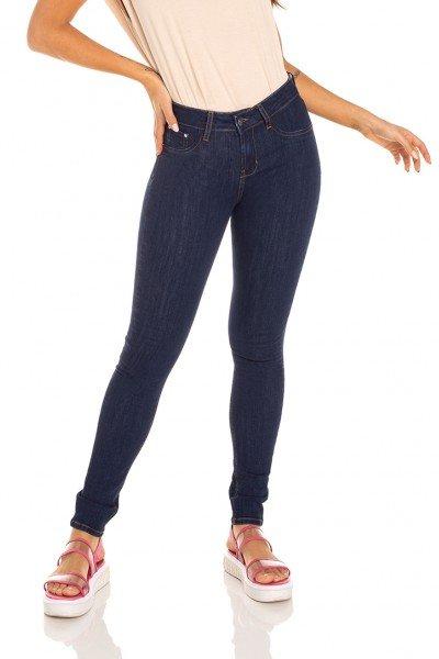 dz3347 calca jeans feminina skinny media escura denim zero frente prox