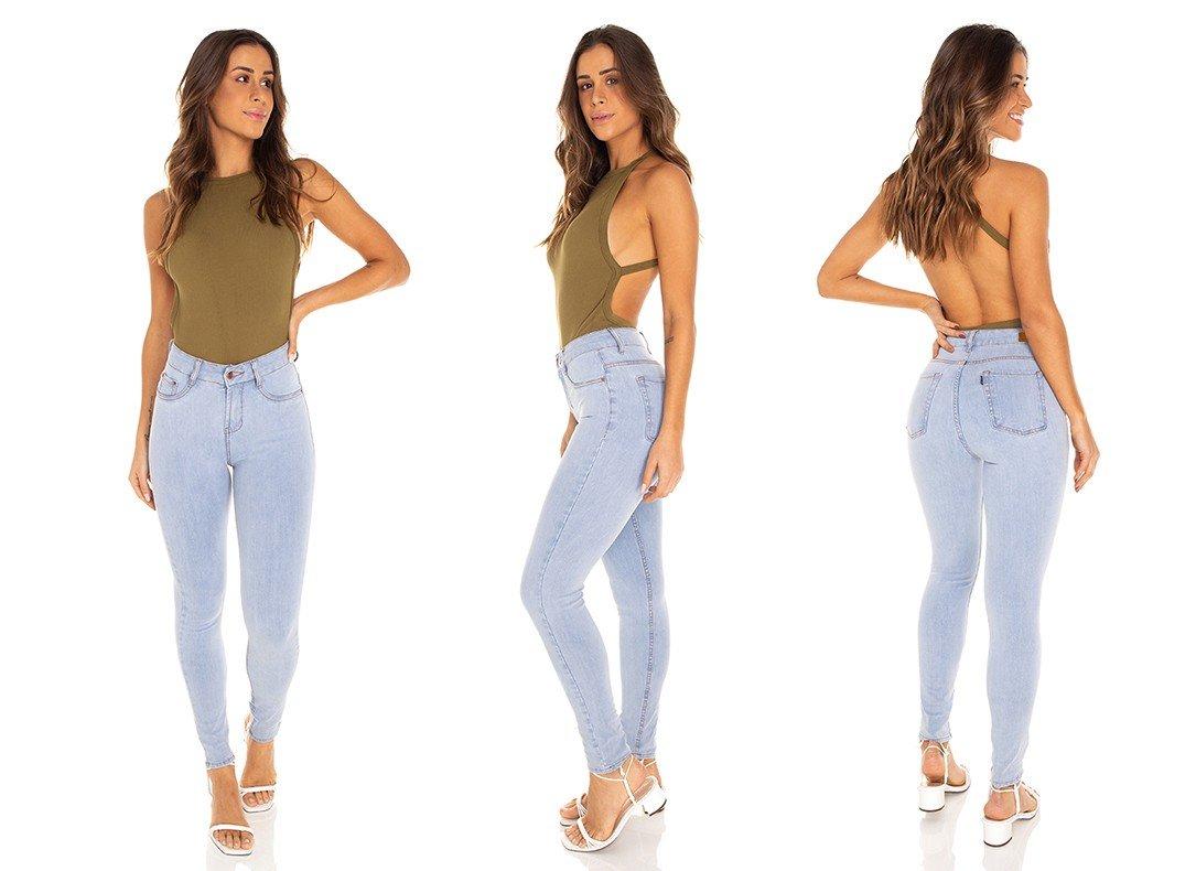 dz3591 calca jeans feminina skinny media cigarrete clarinha denim zero tripla