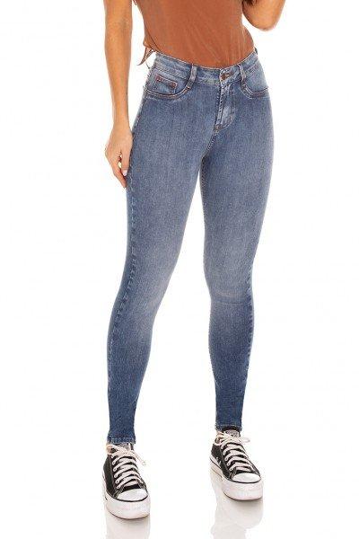 dz3177 calca jeans feminina skinny media cigarrte tradicional denim zero frente prox